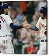 Jake Marisnick and George Springer Acrylic Print