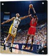 Jalen Rose and Michael Jordan Acrylic Print