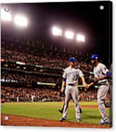James Shields And Lorenzo Cain Acrylic Print