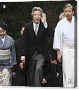 Japanese Prime Minister Junichiro Koizumi Visits The Ise Shrine Acrylic Print