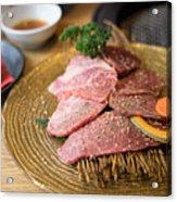 Japanese Wagyu  Beef Acrylic Print
