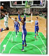 Jaylen Brown and Joel Embiid Acrylic Print