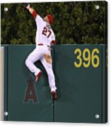 Jesus Montero and Mike Trout Acrylic Print