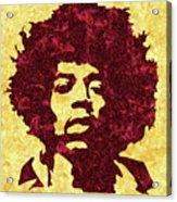 Jimi Hendrix Print, Jimi Hendrix Poster, Rock Music Lovers Gift Acrylic Print