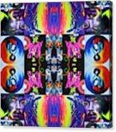Jimi Kaleidoscope II White Edging Acrylic Print