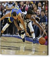 Jimmy Butler and Stephen Curry Acrylic Print