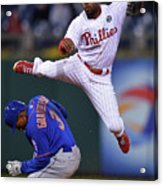 Jimmy Rollins and Curtis Granderson Acrylic Print