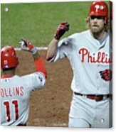 Jimmy Rollins And Jayson Werth Acrylic Print