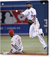 Jimmy Rollins And Jose Reyes Acrylic Print