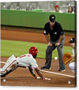 Jimmy Rollins and Nick Green Acrylic Print