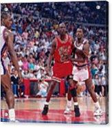 Joe Dumars and Michael Jordan Acrylic Print