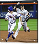 Joe Panik and Brandon Crawford Acrylic Print