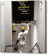 Josh Harrison And Roberto Clemente Acrylic Print