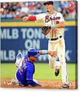 Juan Lagares and Jace Peterson Acrylic Print