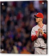 Justin Morneau and Kyle Kendrick Acrylic Print