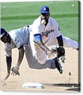 Justin Upton and Howie Kendrick Acrylic Print