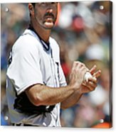Justin Verlander and Juan Francisco Acrylic Print