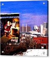 Kansas City Skyline At Christmas Acrylic Print