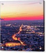 Karlsruhe in winter at sunset Acrylic Print