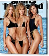 Kate Bock Jasmine Sanders Olivia Culpo Swimsuit 2020 Sports Illustrated Cover Acrylic Print
