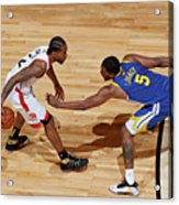 Kawhi Leonard and Kevon Looney Acrylic Print