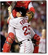 Keith Foulke and Jason Varitek Acrylic Print
