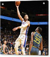 Kevin Durant and Ben Simmons Acrylic Print
