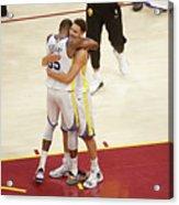 Kevin Durant and Klay Thompson Acrylic Print