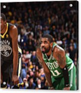 Kevin Durant and Kyrie Irving Acrylic Print