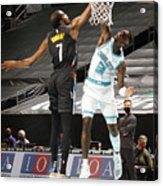 Kevin Durant and Terry Rozier Acrylic Print
