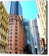 King Street Buildings in Sydney Acrylic Print