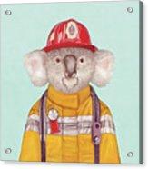 Koala Firefighter Acrylic Print