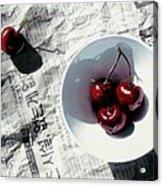 Korean Cherries Acrylic Print