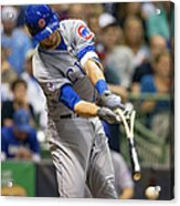 Kris Bryant and Jimmy Nelson Acrylic Print