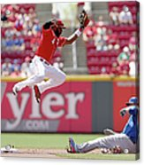Kyle Schwarber and Brandon Phillips Acrylic Print