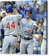 Kyle Schwarber, Anthony Rizzo, and Chris Coghlan Acrylic Print