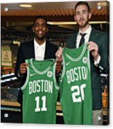 Kyrie Irving and Gordon Hayward Acrylic Print
