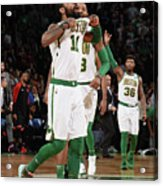 Kyrie Irving and Marcus Morris Acrylic Print