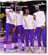 LA Clippers v Los Angeles Lakers Acrylic Print