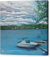 Lake Quinsigamond In Massachusetts Acrylic Acrylic Print