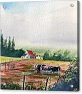 Landscape in Normandie Acrylic Print