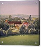 Landscape in Normandie Perche Acrylic Print
