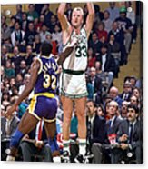 Larry Bird and Magic Johnson Acrylic Print