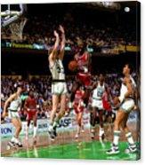 Larry Bird and Michael Jordan Acrylic Print