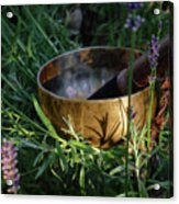 Lavender Vibrations Singing Bowl Acrylic Print