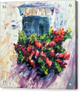 Roses balcony gardens Acrylic Print