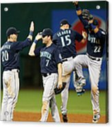 Logan Morrison, Seth Smith, and Kyle Seager Acrylic Print