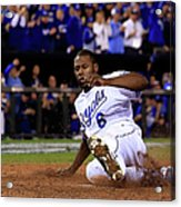 Lorenzo Cain and Billy Butler Acrylic Print
