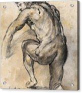 Male nude drawing Acrylic Print