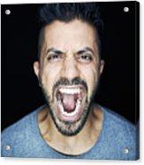 Man Shouting To Camera Acrylic Print